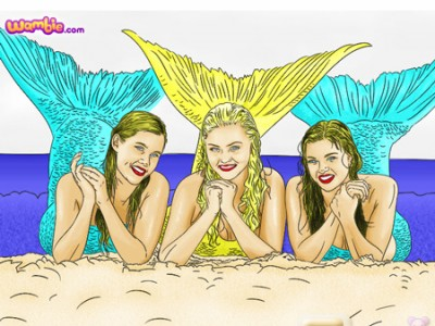Colouring Games Online Play : H2o coloring. games online.
