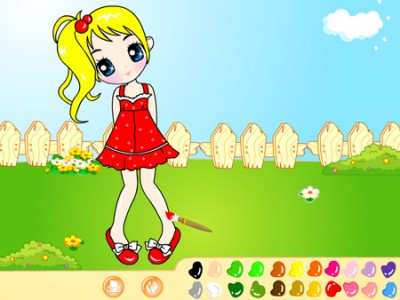 Garden Girl Painting. Games online.