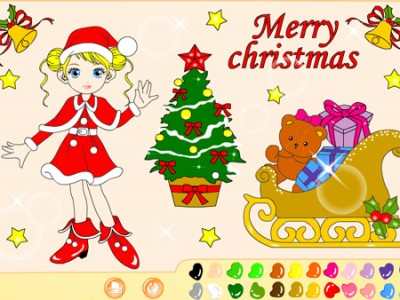 Christmas Coloring. Games online.