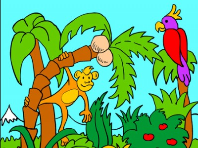 Colour the jungle. Games online.
