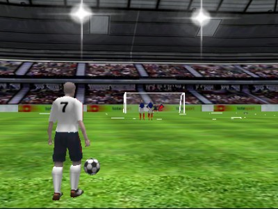 game - Soccer - a free kick