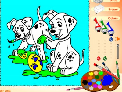 pictures of puppies to color. Color the puppies and find out