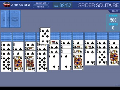 games spider solitaire bliss