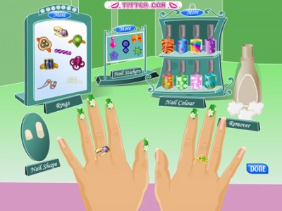 Design Dresses Games Free Online On many Nail Painting Games