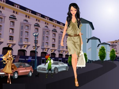 Dress Model Online Game on Games   Chic Spring Fashion Dress Up