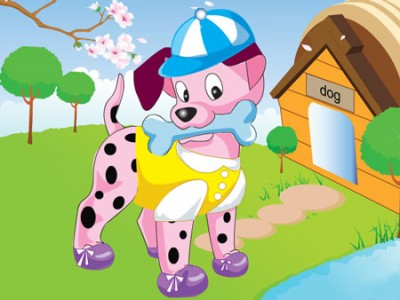 cute puppies pictures to color. game - Cute Puppy Dress Up