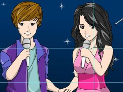 game - Color Selena and Bieber