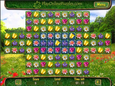 game - Flower Puzzle