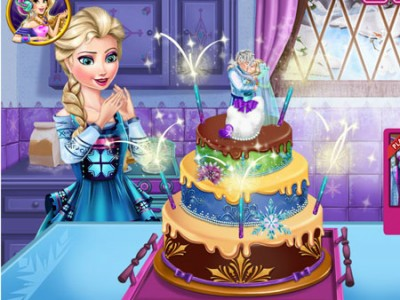 game - Elsa's Wedding Cake