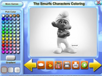 game - The Smurfs Characters Coloring