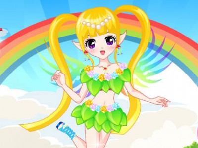 game - Rainbow Fairy Dress Up
